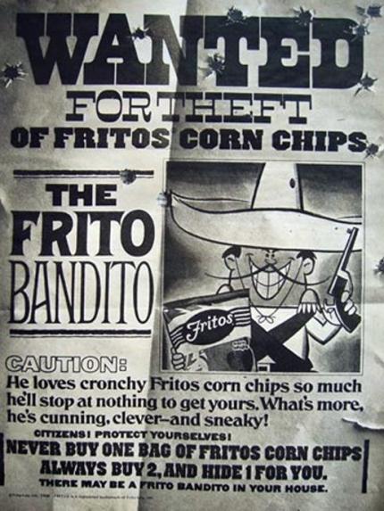 Wanted Frito Bandito